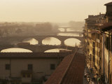 Bridges Over the River Arno  Florence  Tuscany  Italy