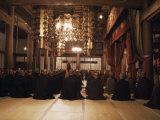 Morning Service in Hatto (Dharma Hall)  Elheiji Zen Monastery  Japan