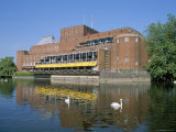 Royal Shakespeare Theatre and River Avon  Stratford Upon Avon  Warwickshire  England