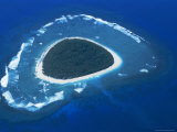 Aerial View  Reef Formation and Island  Fiji  South Pacific Islands