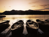 Sunset at Derwent Water  Keswick  Lake District  Cumbria  England  United Kingdom