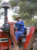 Farm Worker on Tractor  South Africa  Africa