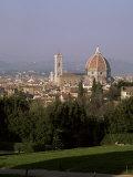 City Skyline from Boboli Gardens  Florence  Tuscany  Italy