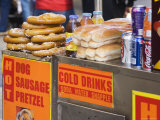 Hot Dog and Pretzel Stand  Manhattan  New York City  New York  USA
