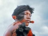 Portrait of a Kamayura Indian  Xingu  Brazil  South America