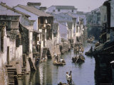 Ancient Canal in the City  Part of the Great Canal  the Longest in China  Soochow (Suzhou)  China
