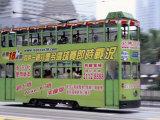 Green Tram  Central  Hong Kong Island  Hong Kong  China