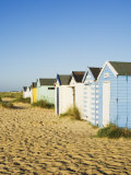 Old Beach Huts  Southwold  Suffolk  England  United Kingdom