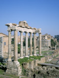 The Forum  Unesco World Heritage Site  Rome  Lazio  Italy