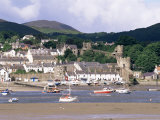 Conwy Town and Harbour  Conwy  North Wales  Wales  United Kingdom