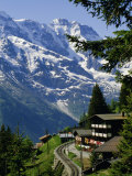 Alpine Railway  Murren  Jungfrau Region  Bernese Oberland  Swiss Alps  Switzerland