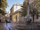 Fountain of the Four Dolphins  Aix-En-Provence  Bouches-Du-Rhone  Provence  France