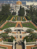Bahai Shrine and Gardens  Haifa  Israel  Middle East