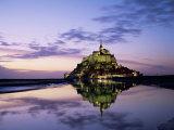 Mont Saint-Michel at Sunset  Unesco World Heritage Site  La Manche Region  Basse Normandie  France