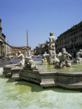 Fountains  Piazza Navona  Rome  Lazio  Italy
