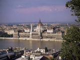 Parliament Building and the River Danube  Budapest  Hungary