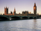 Westminster Bridge and the Houses of Parliament  Westminster  London  England