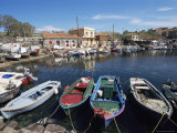 Skala Polichnitos Boats and Harbour  Lesbos  Greece