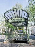 Abbesses Metro Station  Paris  France