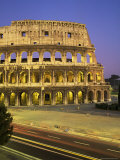 The Colosseum  Floodlit  Rome  Lazio  Italy
