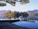 Derwent Water from Keswick  Lake District  Cumbria  England  United Kingdom