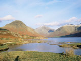 Wastwater with Wasdale Head and Great Gable  Lake District National Park  Cumbria  England
