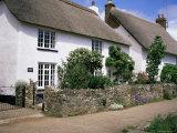 Thatched Cottages  Otterton  South Devon  England  United Kingdom