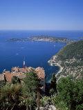 Eze and St Jean-Cap-Ferrat  Cote d'Azur  Provence  France  Mediterranean