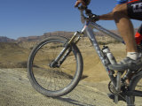 Front Wheel and Frame of Mountain Bicycle in the Mount Sodom International Mountain Bike Race
