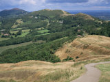 Malvern Hills  from British Camp  Hereford & Worcester  England  United Kingdom