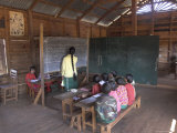 Pah Oh Minority Children in Local Village School  Pattap Poap Near Inle Lake  Shan State  Myanmar