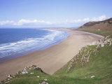 Rhossili Bay  Gower Peninsula  Wales  United Kingdom
