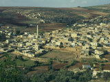 View from Above of Palestinian Village of Gilboa  Mount Gilboa  Palestinian Authority  Palestine