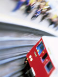 Blurred Motion of Underground Train Leaving Station  London  England  United Kingdom