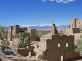 Kasbah  Dades Valley  and the Atlas Mountains  Morocco  North Africa  Africa