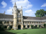 Founders Tower from Cloister Quadrangle  Magdalen College  Oxford  Oxfordshire  England
