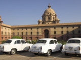 The Secretariats  Rashtrapati Bhavan  with White Official Ambassador Cars with Secretatriat  India