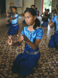 Apsara Dance  Khmer Dance School  Phnom Penh  Cambodia  Indochina  Southeast Asia