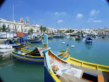 Fishing Harbour  Marsaxlokk  Malta  Mediterranean