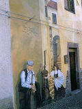 Murals in the Village of Tinura  Bosa Region  Island of Sardinia  Italy  Mediterranean