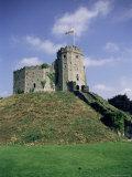 Norman Keep  Cardiff Castle  Cardiff  Glamorgan  Wales  United Kingdom
