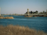 The River Euphrates at Deir Ez-Zur  Syria  Middle East