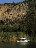 Lycian Rock Tombs  Carian  Dalyan  Mugla Province  Anatolia  Turkey  Eurasia