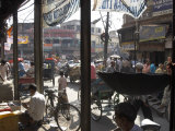 People and Vehicles in the Spice Market  Chandni Chowk Bazaar  Old Delhi  Delhi  India