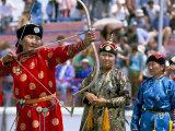 Archery Contest  Naadam Festival  Oulaan Bator (Ulaan Baatar)  Mongolia  Central Asia