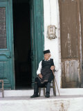 Old Man in Traditional Costume  Crete  Greece