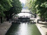 Canal St Martin  Paris  France