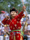 Archery Contest  Naadam Festival  Oulaan Bator (Ulaan Baatar)  Mongolia  Central Asia