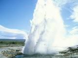 Geyser at Geysir Thermal Area  Near Reykjavik  Iceland  Polar Regions