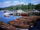 Rowing Boats  Waterhead  Ambleside  Lake Windermere  Lake District  Cumbria